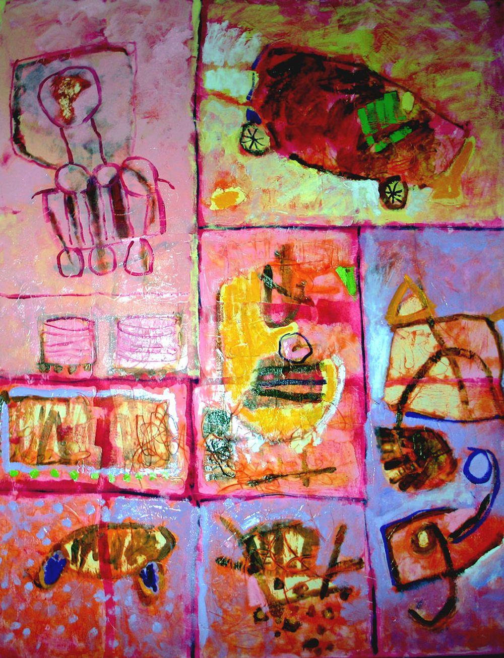 Rhoda,Audrey 6.Childhood Solitudes II, 120x150cm oil & wax on canvas 2005@300dpi.jpg