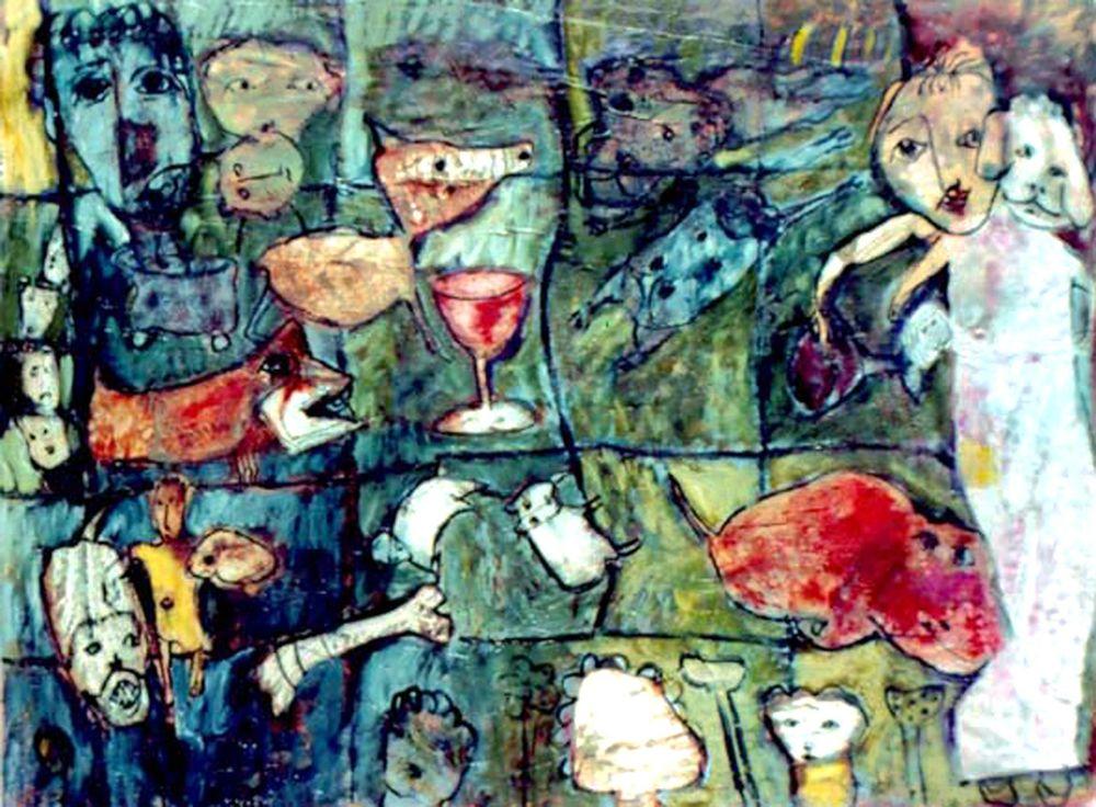 Rhoda,Audrey 3. Playtime In The park, 119x88cm oil,wax on canvas 2005@300dpi.jpg
