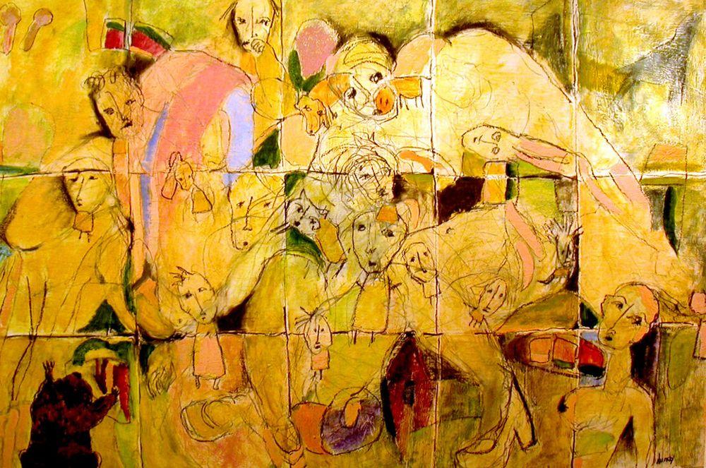 Rhoda, Audrey 1. Mum Said I Could Watch If I Didn't Lick The Model, 135x100cm,oil,wax on canvas 2006@300dpi.jpg