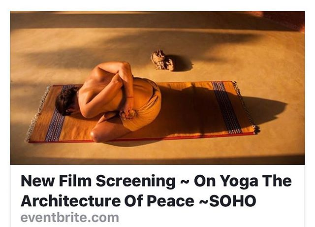 💫 New screening tomorrow ✨🙏🏻🕉 @onyogafilm  @michaeloneillphoto @ursofilmes @paranoid_br www.onyogathearchitectureofpeace.com #spirit #onyogafilm #gratitude #joy #mind #body #spirit #inspiration #yoga #yogaeverydamnday #taschen #magic