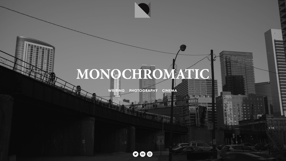 What you'll find at monochromatic.co now.