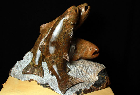 MULTIPLE FISH WITH CARVING