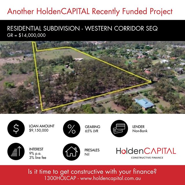 Another project funded by HoldenCAPITAL. Find out more: www.holdencapital.com.au