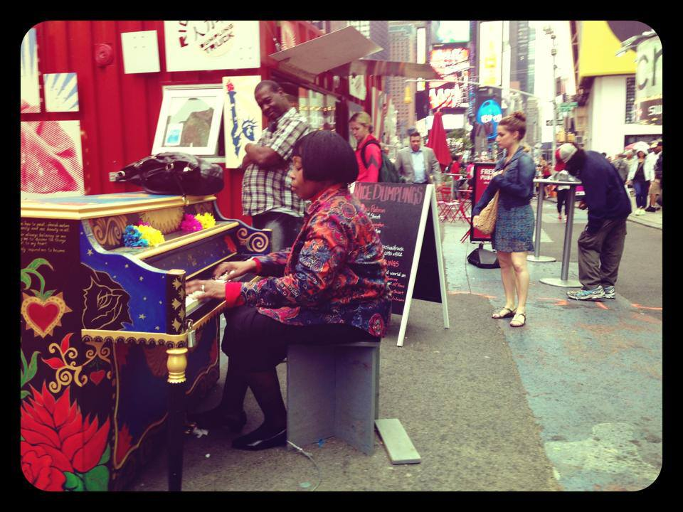 In 2014, Maxine painted a piano for the organization  Sing for Hope . Her piano was selected to be displayed in Times Square as part of their NYC public art interactive installation.