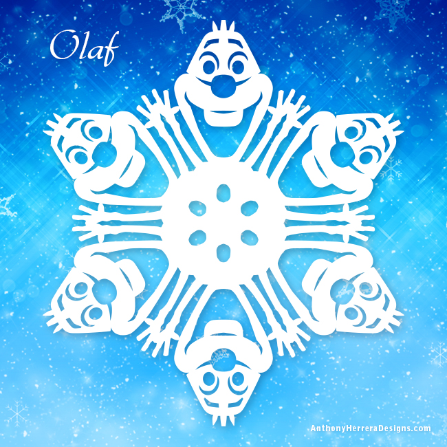Frozen snowflakes anthony herrera designs for How to make a real paper snowflake