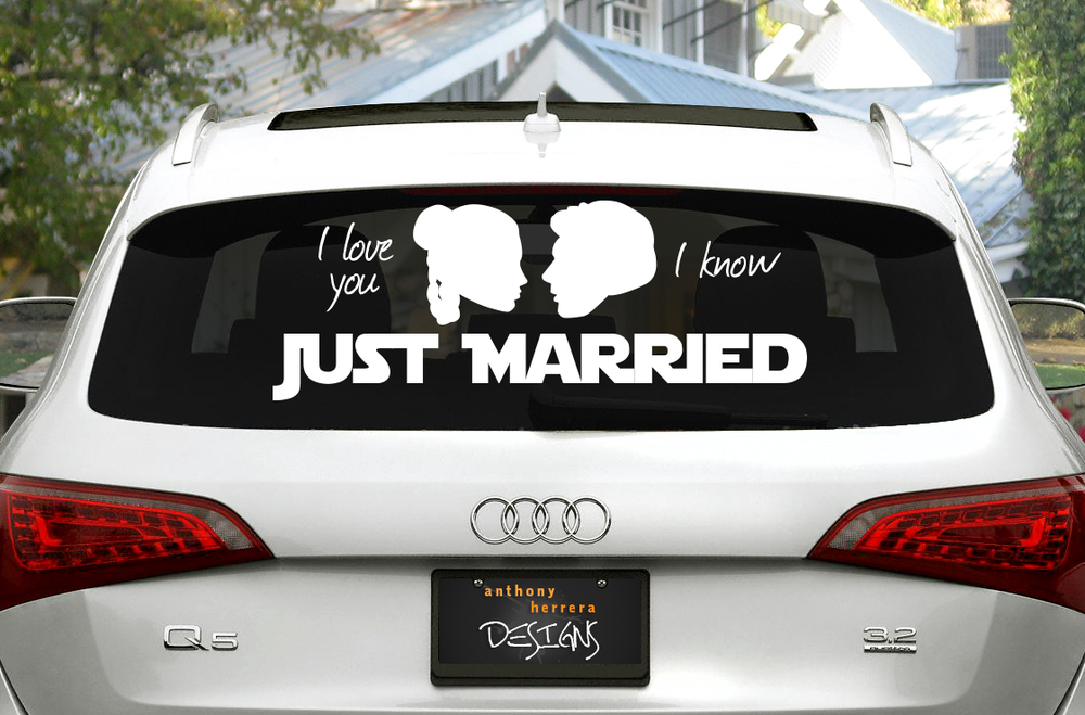 Geek Wedding Anthony Herrera Designs - Star wars car decals