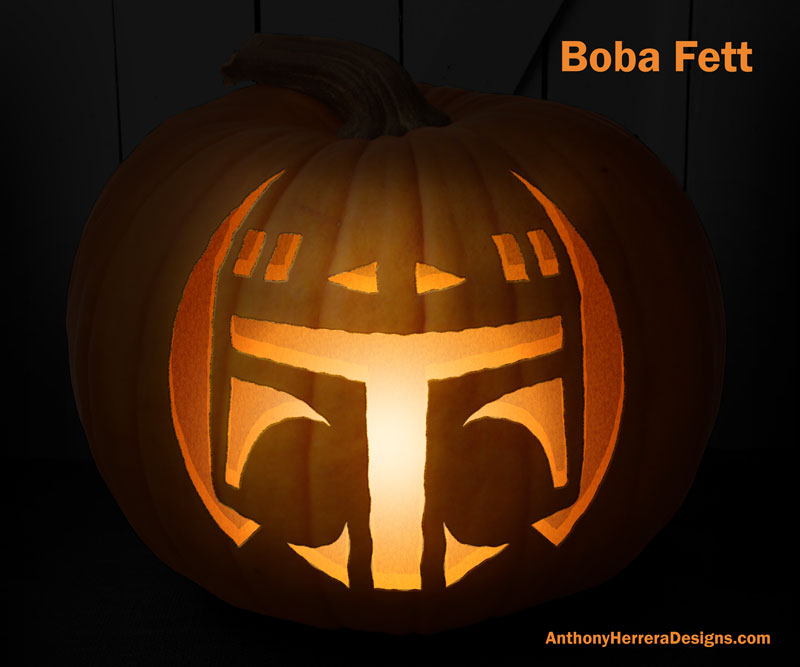 Star Wars Pumpkin Carving Templates Anthony Herrera Designs