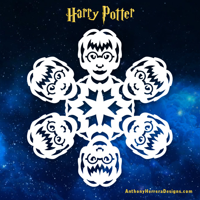 Harry Potter Snowflakes Anthony Herrera Designs