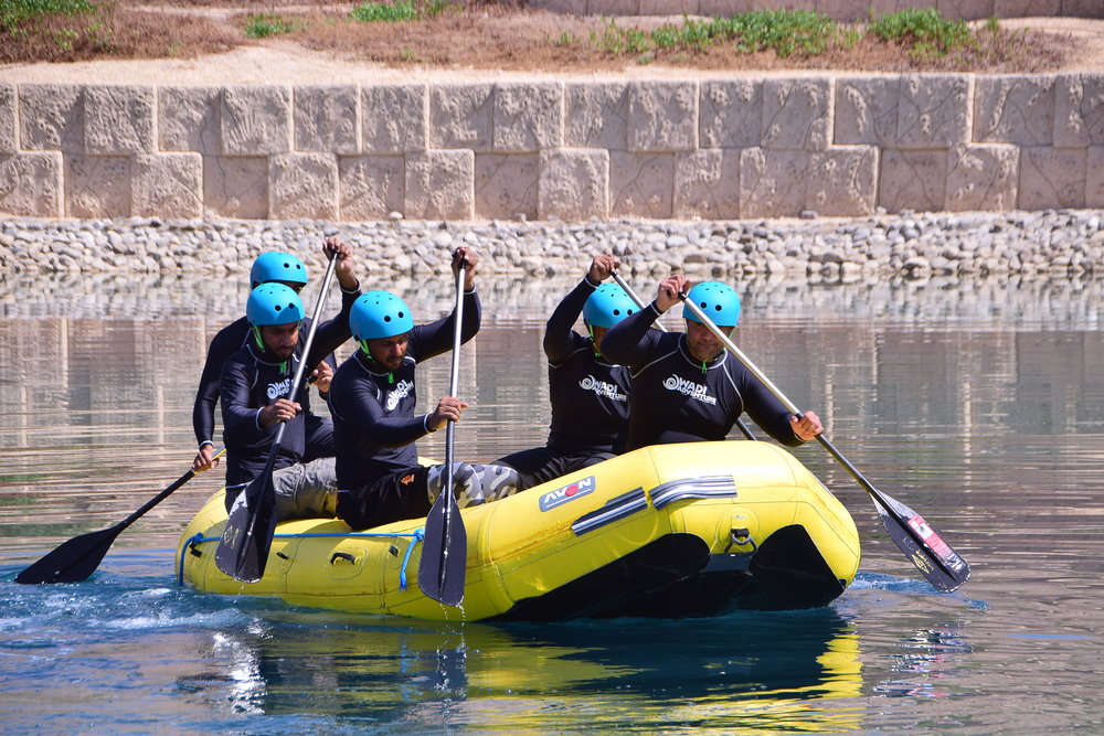 Rafting Team Training at Wadi Adventure