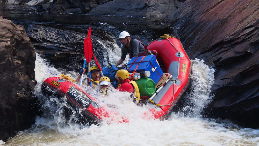 Franklin River Rafting feeling the taco, the Faucet rapid .JPG