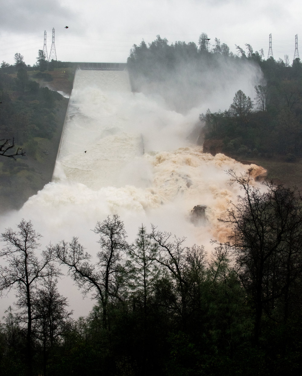 Oroville Dam 55,000 CFS