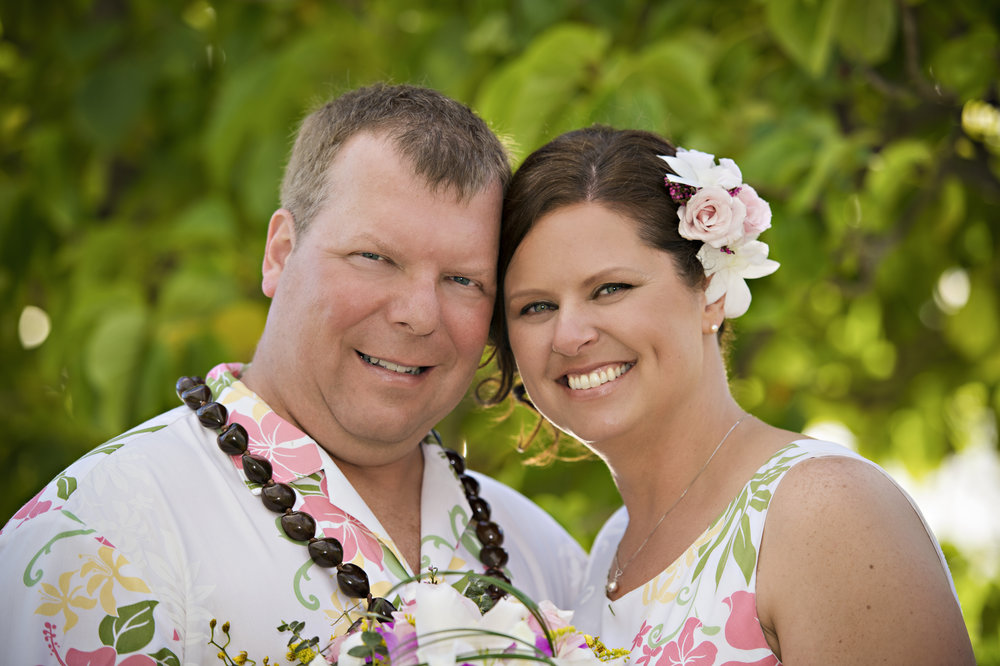 Dan and I on our wedding day - February 13, 2013 - in Oahu, Hawaii