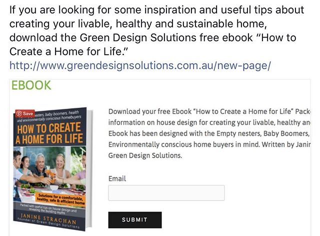 If you are looking for some inspiration and knowledge about creating a #sustainable and #livable home download the Green Design Solutions free Ebook. www.greendesignsolutions.com.au (link in bio) . . . . #ecodesign #ecohouse #ecofriendly #home #house #livegreen #greendesign #ebook