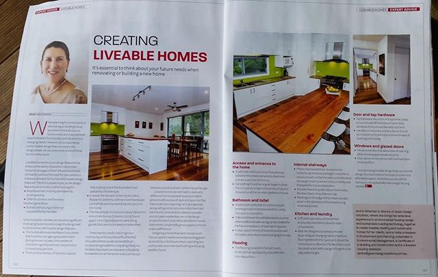 We are thrilled to share this fantastic article from Renovation Magazine featuring the Director of Green Design Solutions, Janine Strachan. She discusses why it is essential to think about your future needs when renovating or building a new home. . . . #renovation #newbuild #greenthumb #greendesign #environment #sustainability #sustainableliving #ecofriendly #eco #house #home #build