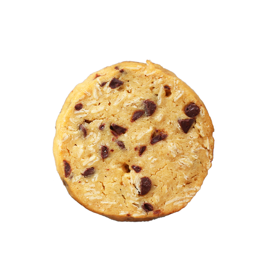 Passion Fruit Chocolate Oatmeal - Intense passion fruit dough with chocolate chips and oatmeal