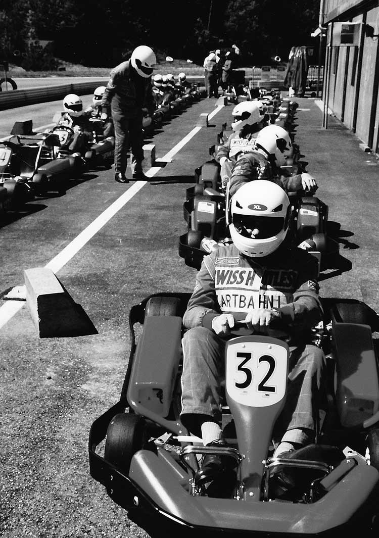 «Firmenrennen» auf der Kartbahn Lyss 2002