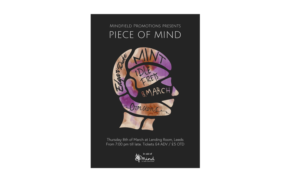 Piece of Mind   Poster for Leeds charity - and concert event