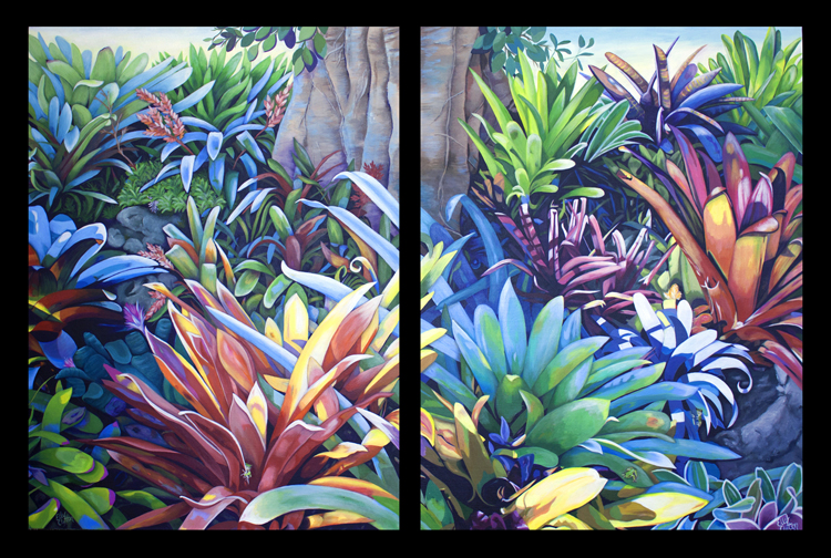 Bromeliad Oasis (Diptych)