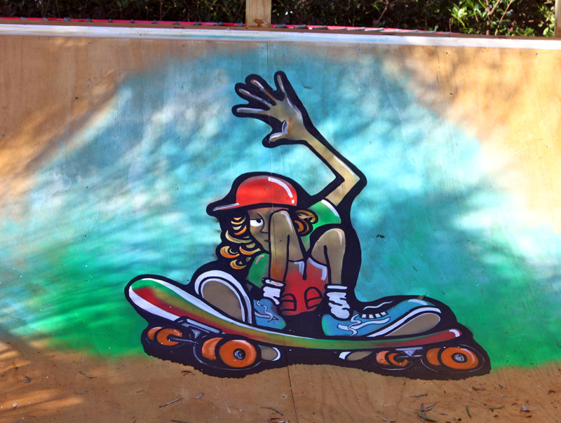 Graffiti on a Skate Ramp