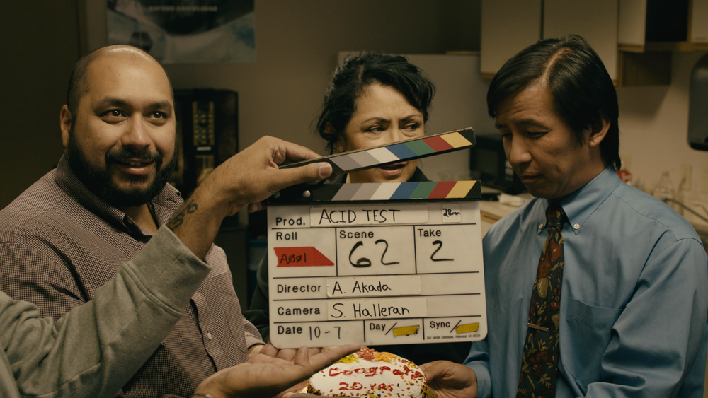 The faculty takes a well-earned break (from left to right): Sameer Arshad, Yvonne Jarrett & David Hsieh. Mr. Cheema on slate!