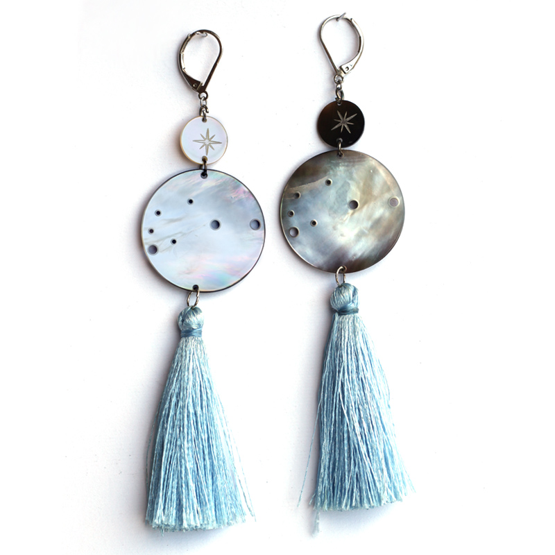Polynesian sky earrings