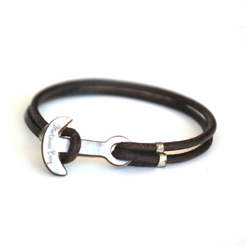 Bracelet cuir et ancre