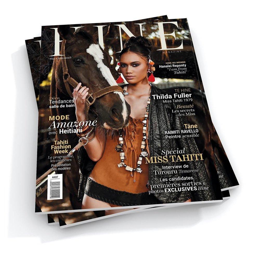 HINE - JUIN 2018 - Portrait Amélie & Nicolas Hirigoyen créateurs de la marque Miel.A Tahiti