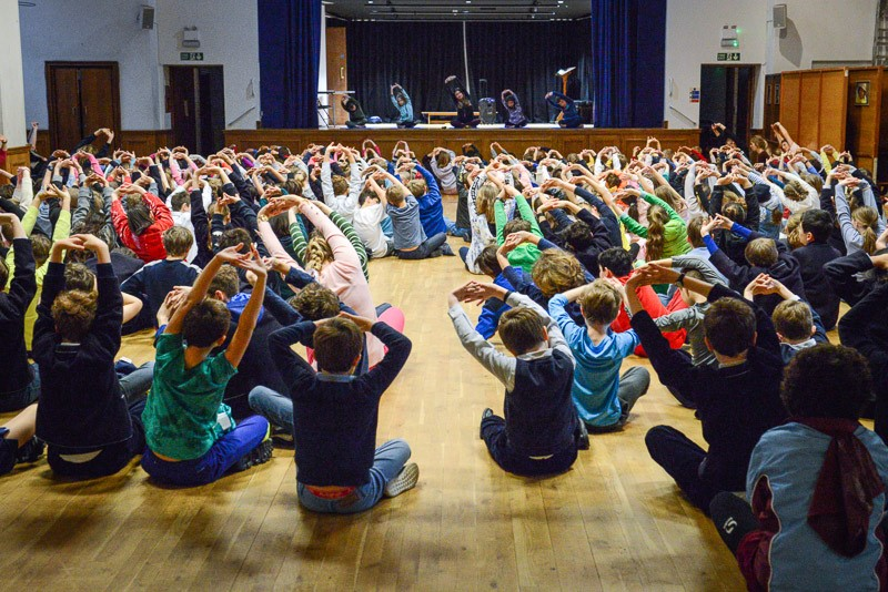 (Whole School Yoga Session run by 'Happy at Heart Yoga' 08/02/19)