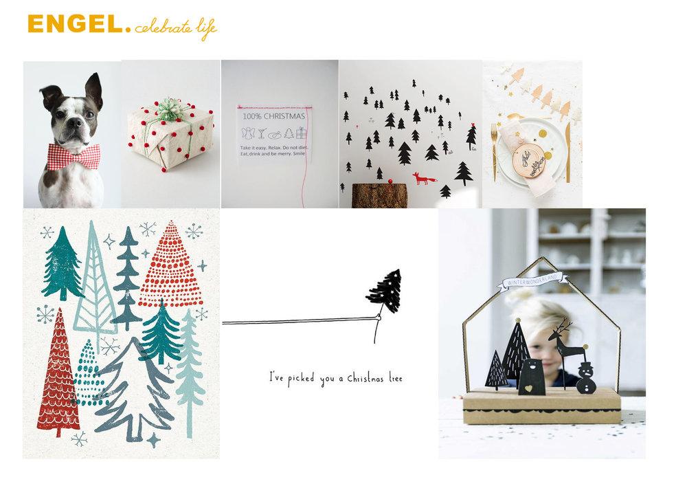 Het idee toespitsen. We willen wat gaan doen met illustratie en Cut Out, een kerstservies voor volwassenen en kinderen, kerstdiners op school,een doosje, een kerstwereldje op tafel en een duurzaam product...