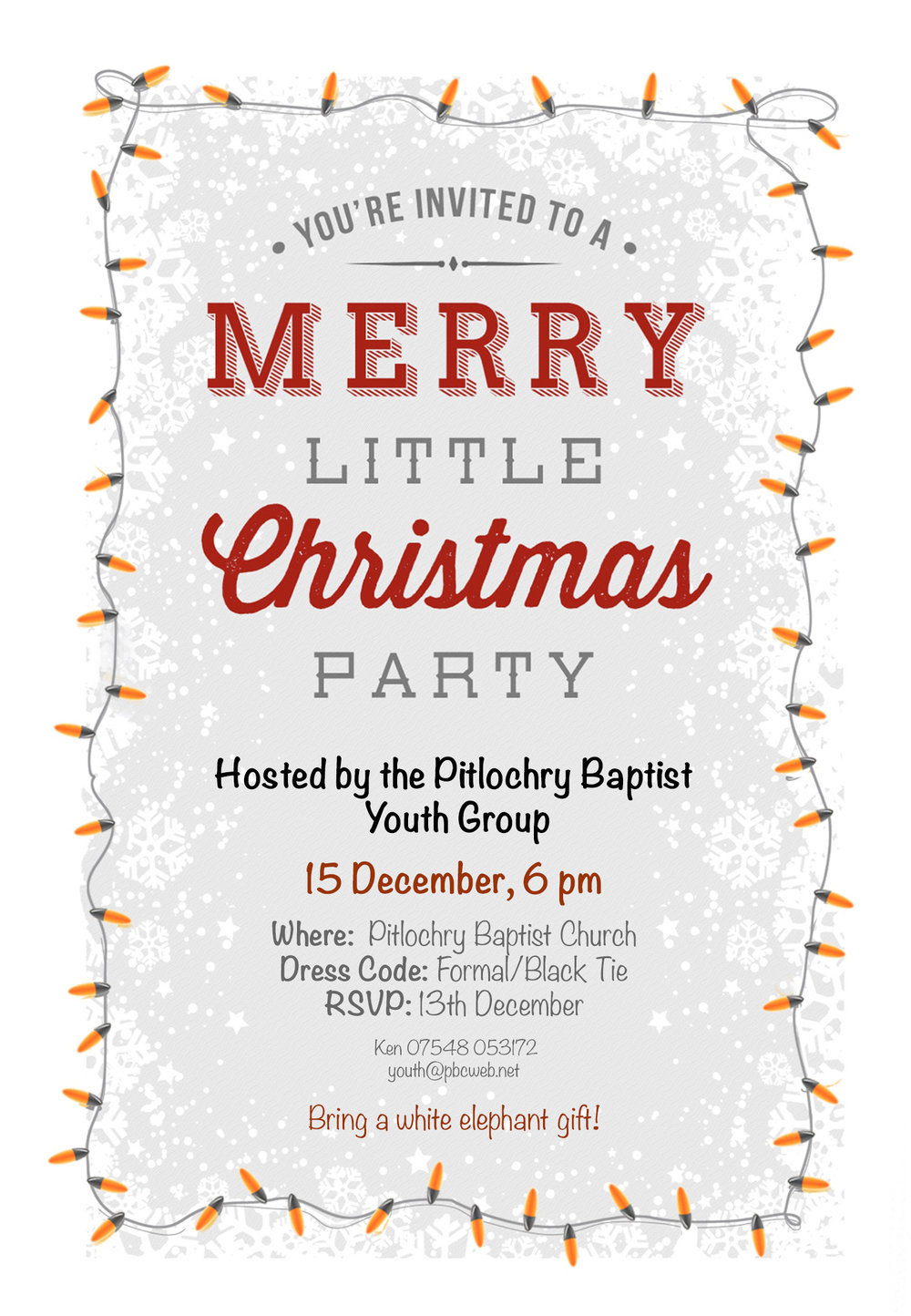 christmas party invitation pitlochry baptist church
