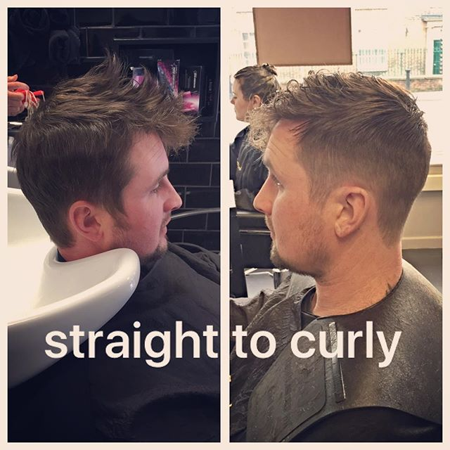 Men's perm only £40 including cut! Take your hair from that poker straight unmanageable hair to soft and wavy! #barberbashuk #thebarberpost #barberlove #barbersinctv #barberuk #barbergang #barbergang #barbershopconnect