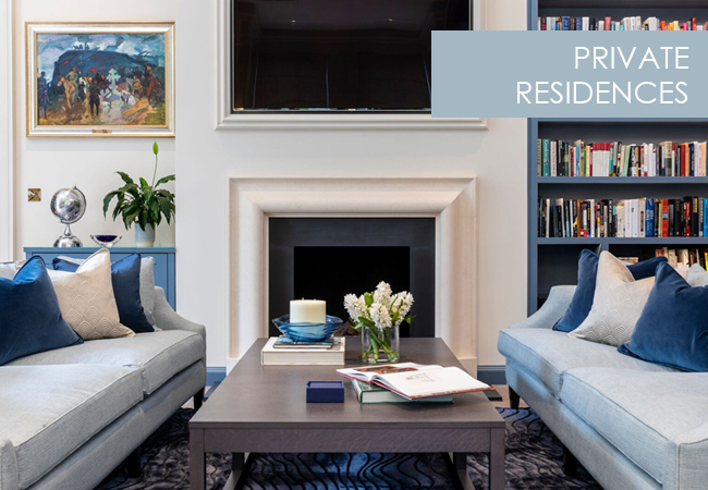 Private Residences interiors from Perring Design London