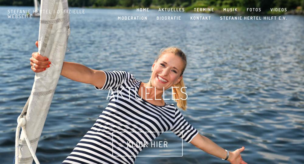 Stefanie Hertel - Screenshot der Webseite (15.03.2017)