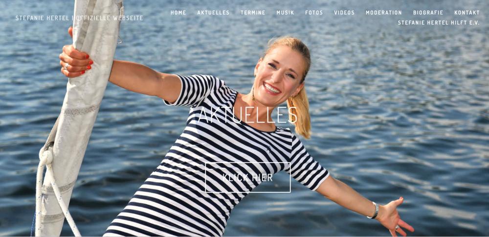 Digitaler Auftritt - Auftraggeber: Management Stefanie HertelBereiche: Beratung, Konzeption, Social Media,Website-Relaunch stefaniehertel.deZusammenarbeit: seit 06/2016