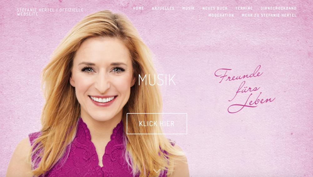 Stefanie Hertel (Screenshot der Webseite 2018)