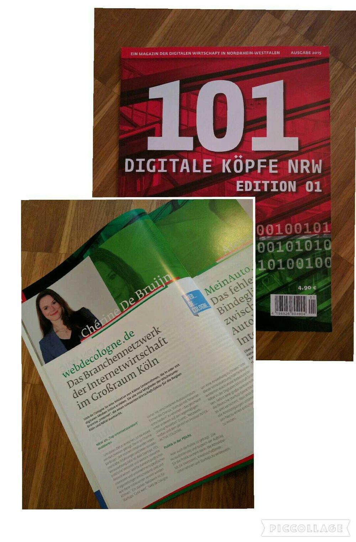"""Auszeichnung """"101 Digitale Köpfe NRW"""""""
