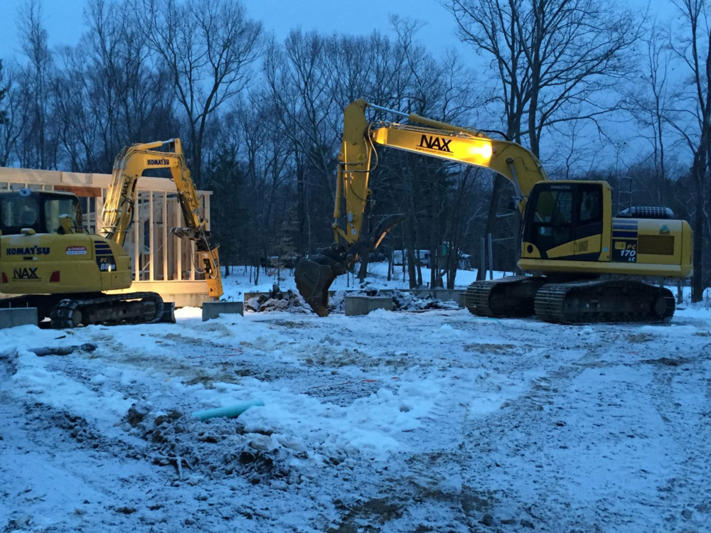 Even in the Cold of Winter, we'll be out there making sure that your project is moving forward!