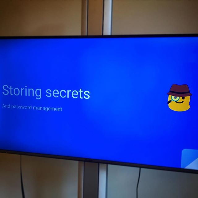 This week's #techtalk is on storing password and secrets 😎🔒
