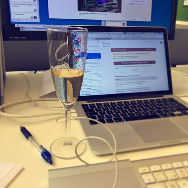 It's only Monday, but we have both new projects and new joiners to celebrate 🍾 #champagne — More on the new joiners soon...