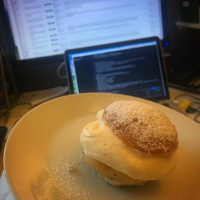 A very special #fika today 😋 Home-made! #semla #onsdagsfika
