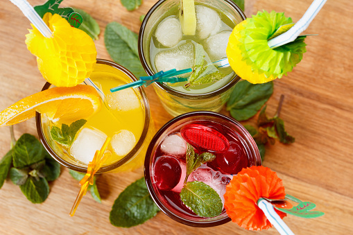 A variety of summer cocktails, like sangria and mojitos, provides colourful and refreshing options to bridal shower guests.