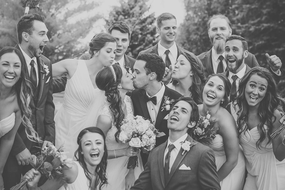 Letting the true personalities of your wedding party shine through in photos will end up being some of your favourite shots. See more from    Kira & Tristan's wedding   . Photography:    Nina Polidoro   .