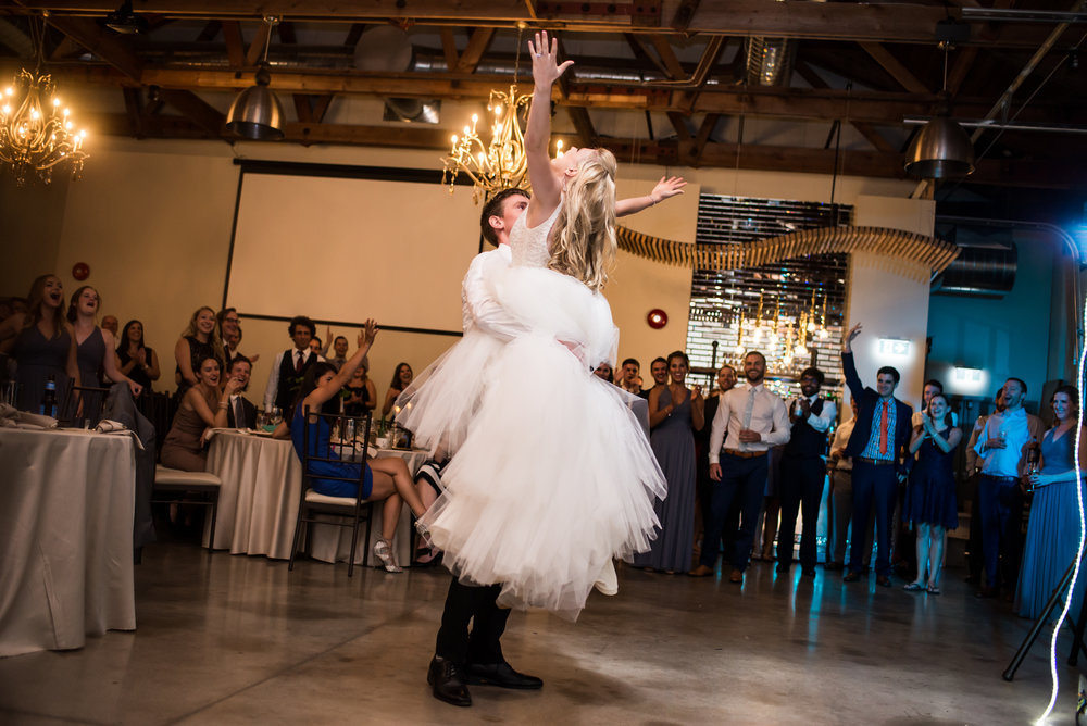 Surprise elements like choreographed dances are becoming more and more popular in the wedding plan of couples, and are a fun way to engage guests. Photography:  Nina Polidoro .