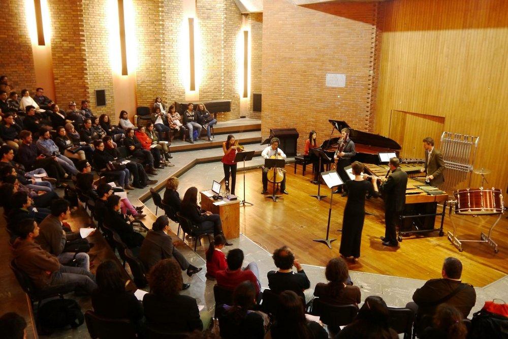 Khemia Ensemble at the National University of Bogota, Colombia