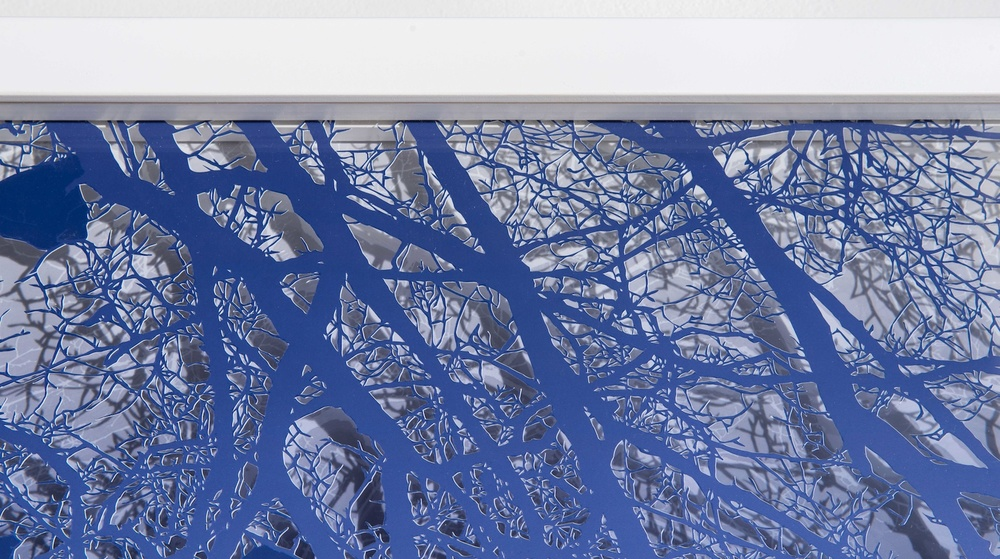 Treescape (Blue), (detail)