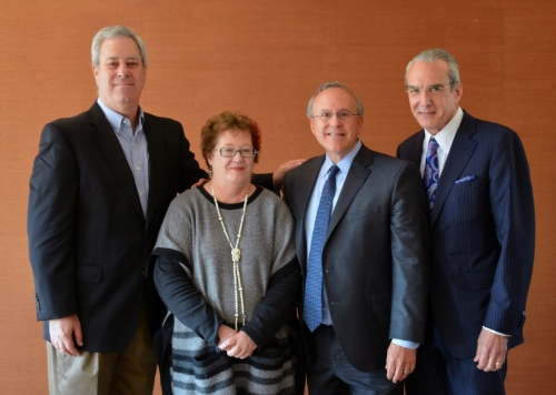 From left to right: Eric Reiman, M.D., Martha Shenton, Ph.D., Robert Stern, Ph.D., and Jeffrey Cummings, M.D.