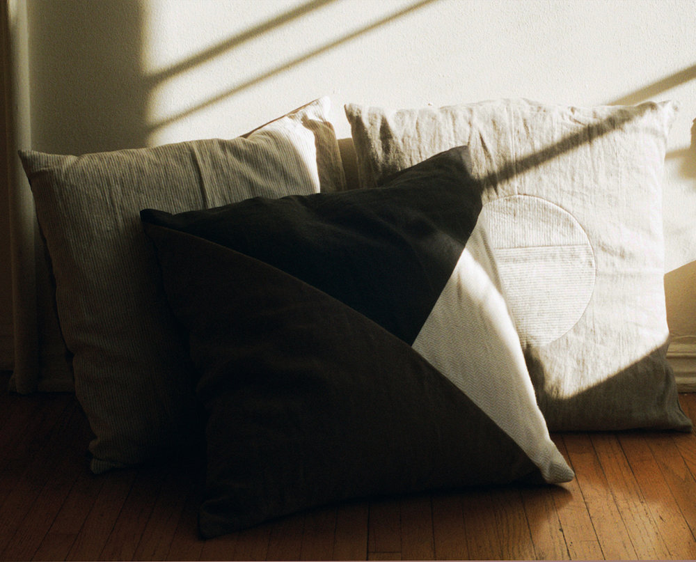 Patchwork Pillow I, II, and III