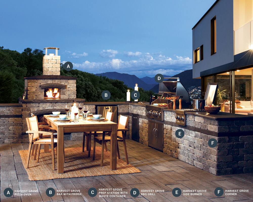 Outdoor Kitchens Kits | Landscape Kits Outdoor Kitchens Whitemud Landscape Centre
