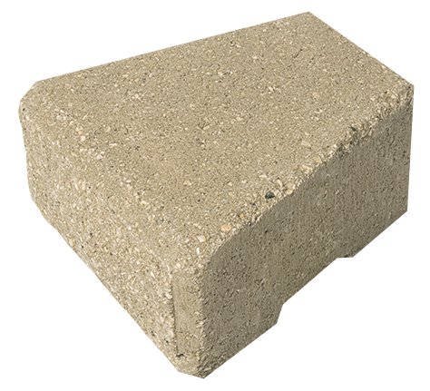 Stack Stone Coping (Cap) Block: 4 x 8 x 8/6""