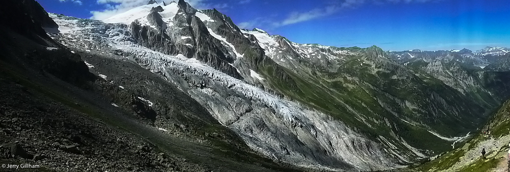 The Glacier du Trient stretching down the valley the way we were headed.